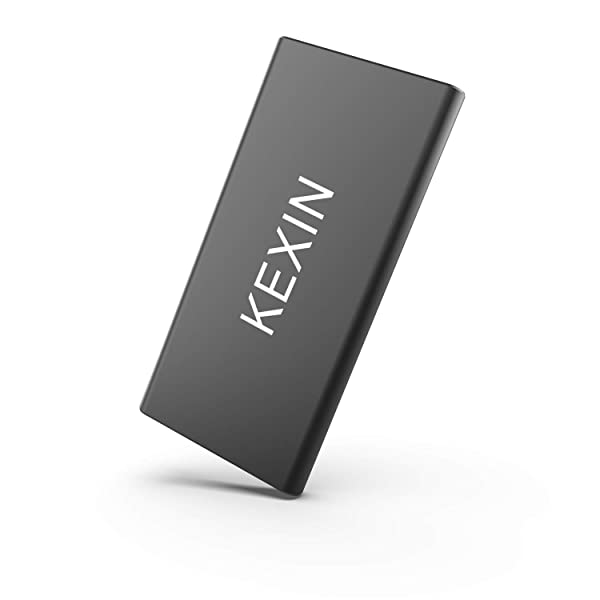 KEXIN X1pro 500 GB Portable External SSD Drive Read/Write Speed up to 500MB/s High Speed Transfer Mobile Solid State Drive USB3.1 Ultra-Slim USB-C Drive for Laptop, Tablet, PC and Android Phone, Black (Color: Black, Tamaño: 500 GB)