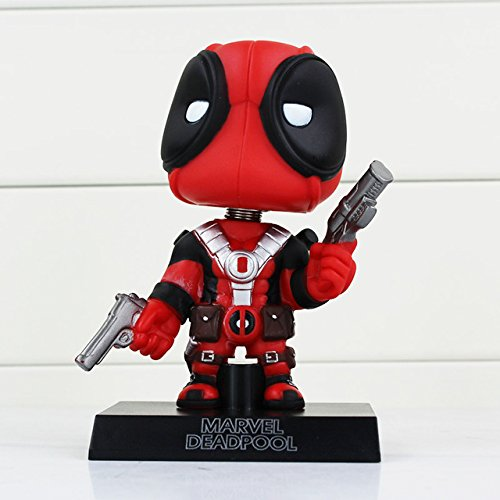 Pop Deadpool Figure Toy Wacky Wobbler Bobble Head PVC Action Figures toys Doll With Base approx 13.5cm With Box