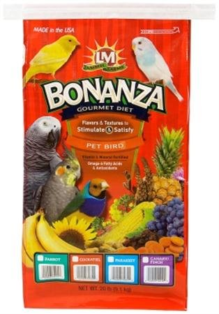 Bonanza Parrot Food - 20 Lb Bag