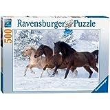 Ravensburger - 14140 - Puzzle - Galop dans La Neige - 500 Pièces