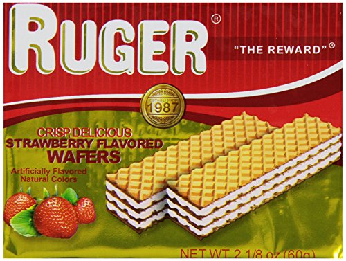 Ruger Wafers, Austrian Strawberry, 2.125 Ounce (Pack Of 12)