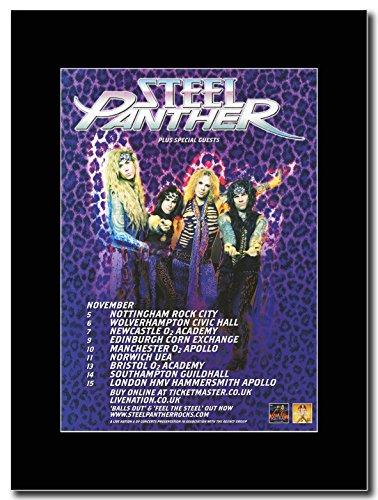 Steel Panther _palline Out UK Tour date 2012 Magazine Promo su un supporto, colore: nero