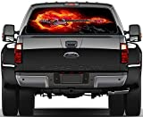 Electric Guitar On Fire Rear Window Graphic Decal Sticker Car Truck SUV Van 319, Huge