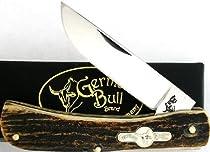 GERMAN BULL KNIVES GB107 Genuine Deer Stag Dirtbuster Knife