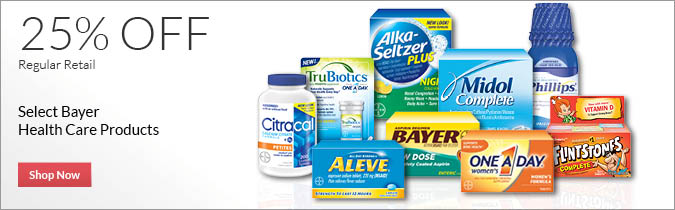 Bayer Products,25% off. Shop now.