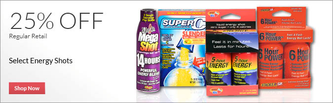 Select Energy Shots, 25% OFF. Shop Now.