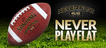Neverflat Football  - Neverflat Pressure Retention Technology Products by Spalding
