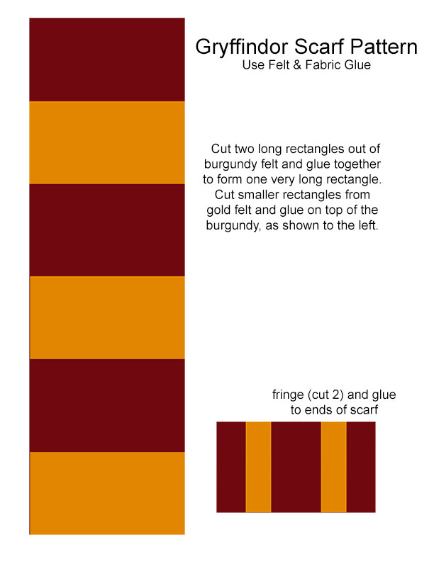 harry potter scarf pattern halloween costume mom and baby