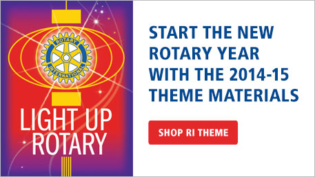 Start the new Rotary year with the 2014-15 theme materials