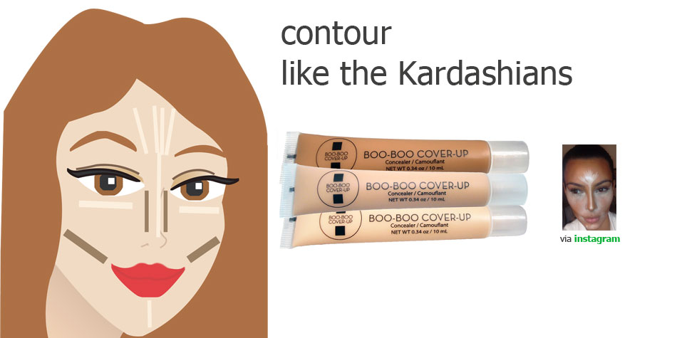 Contour your face with highlights