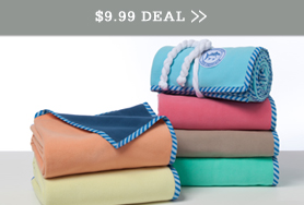 Southern Tide Fleece Throw