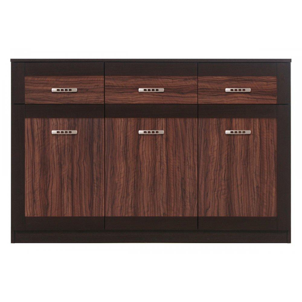 JUSThome BS06 Kommode Sideboard Wohnzimmerschrank (HxBxT): 89×135,5×40,5 cm Farbe: Maggia Eiche / Olive