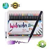 CHERRY BLOSSOM Watercolor pen set 20 color water pen painting brush watercolor pen, water color ink Soft elastic pen tip adult coloring book, manga, c