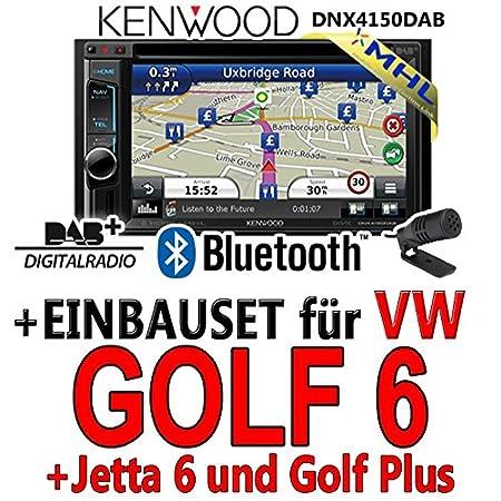 Kenwood-vW golf 6 dNX4150DAB 2-dIN navigationsradio mHL autoradio dAB uSB avec kit de montage