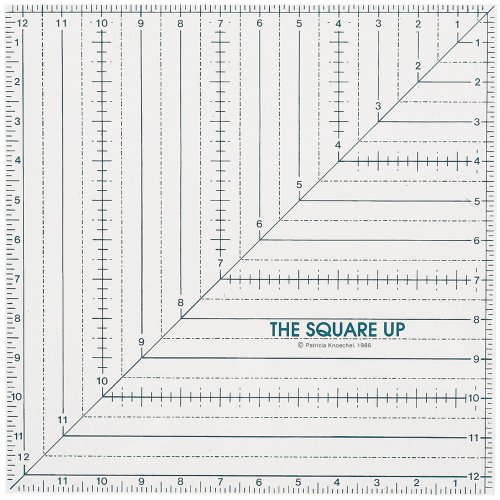 Great Features Of Quilt In A Day 12-1/2-Inch by 12-1/2-Inch Square Up Ruler