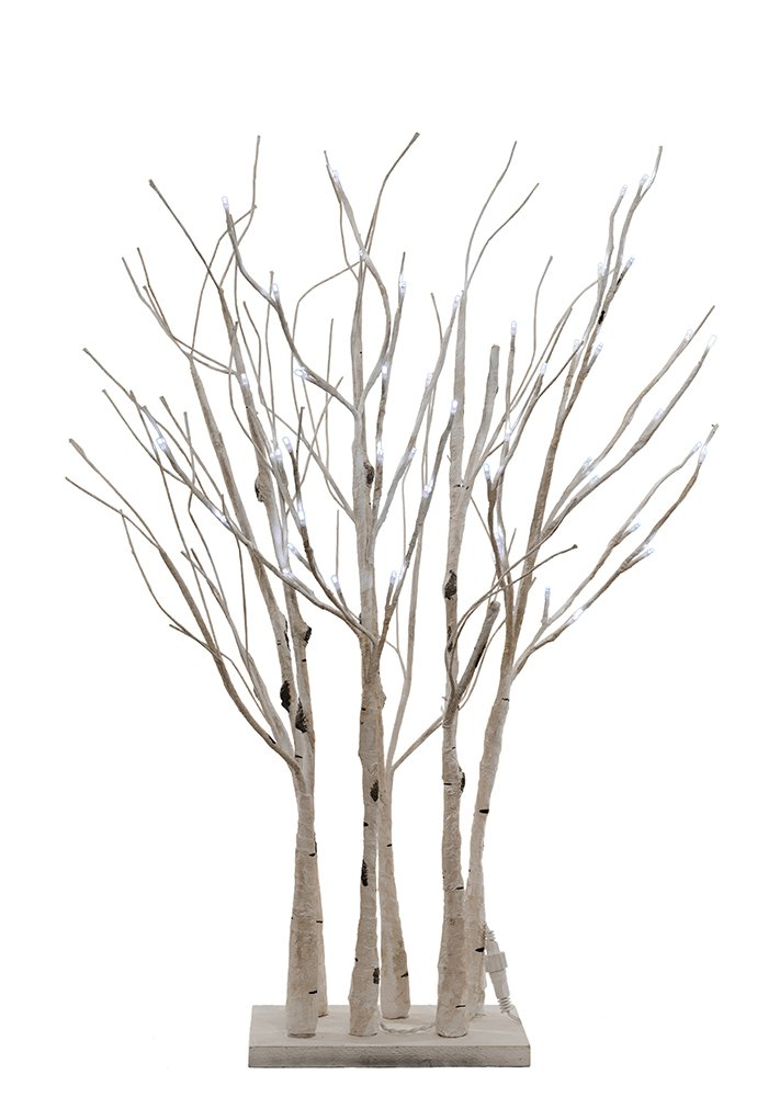 All Line Floral Lights LED Birch Tree, 27-Inch