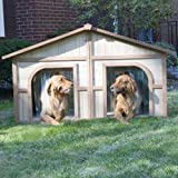 Merry Products Duplex Wood Dog House