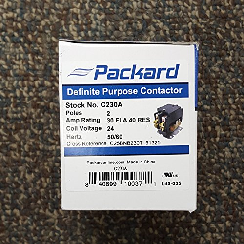 Packard C230A 2 Pole 30 Amp Contactor 24 Volt Coil Contactor (24v Air Conditioner compare prices)