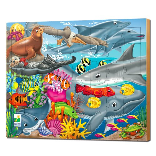 The Learning Journey 48 pc Lift & Discover Jigsaw Puzzle Creatures of the Sea - 1