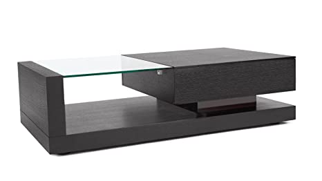 Etta Dark Oak And Tempered Glass Coffee Table