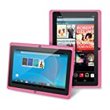 Tablet Chromo Inc sistema Android 4.1 con pantalla táctil cámara de 1024x600 de resolución con aplicaciones preinstaladas como Netflix, Skype soporta juegos en 3D color rosa