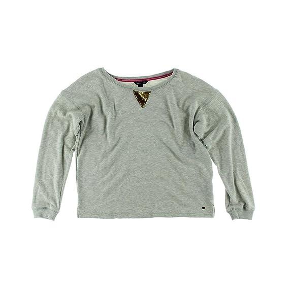 Tommy Hilfiger Crewneck Sweater Sequin Neckline