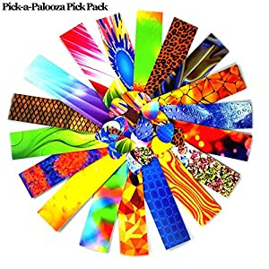 Pick-a-Palooza® Guitar Pick Pack Custom Strips For Your Guitar Pick Maker - Great Variety Of Strips For Making Guitar Picks With Any Pick Punch