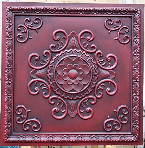 pl08-faux-paint-antik-rot-deckenleuchte-fliesen-3d-relief-cafe-pub-shop-art-dekoration-wand-paneele-
