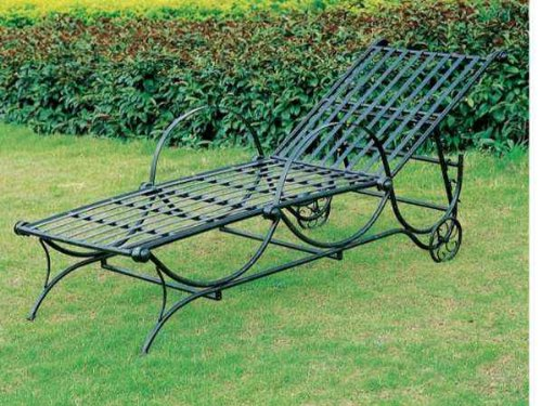 Black friday mandalay iron patio or porch chaise lounge in for Chaise lounge black friday sale