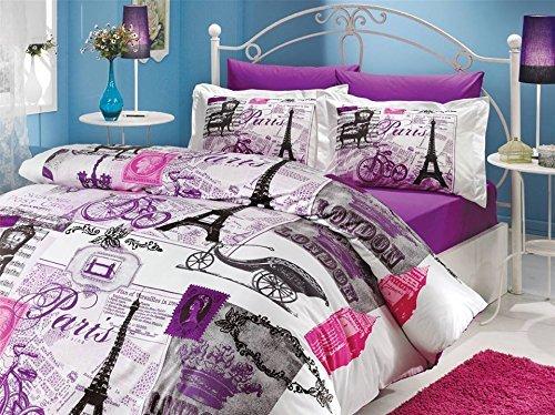 降幅近100!100% 570支土耳其棉巴黎铁塔床品升级版紫色,更有韵味!