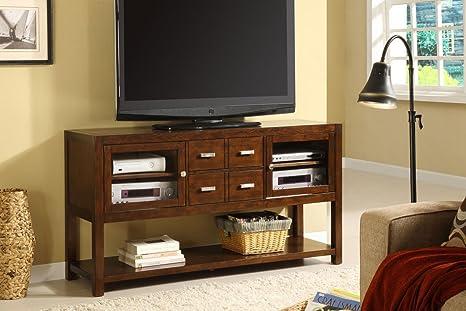 Pearington Sherbrook TV Console, Dark Walnut Finish
