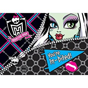Monster High Invitations (8) Invites Cards Birthday Party Supplies Girl