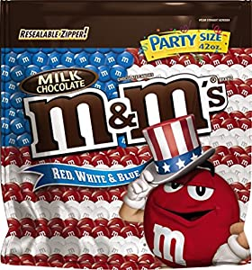 M&M'S Red, White and Blue Milk Chocolate Candy Party Size 42-Ounce Bag