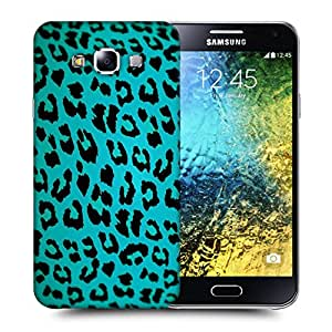 Snoogg Blue Chetah Designer Protective Back Case Cover For SAMSUNG GALAXY E5