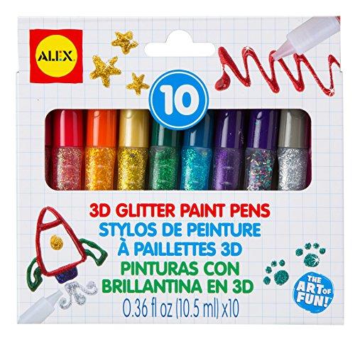 ALEX Toys Artist Studio 3D Glitter Paint Pens