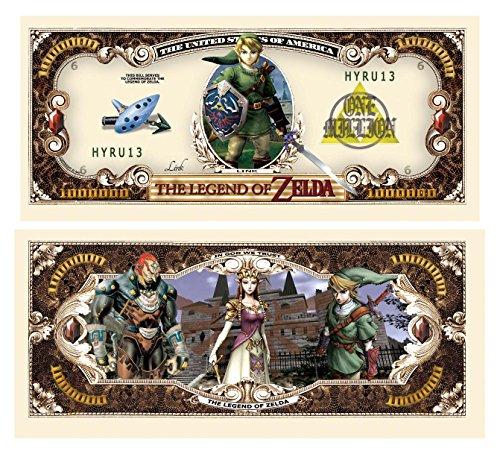 Legend of Zelda Million Dollar Bill in Collector Grade Currency Holder - 1
