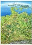 Panoramakarte Deutschland Poster eins...