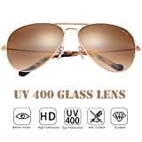 O-LET Aviator Sunglasses for Women Men with Glass Lens Aviators UV400 Protection