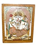 Made with Wooden Material Wooden Ganesh Jewelry Box Statue by Bharat Haat BH01856