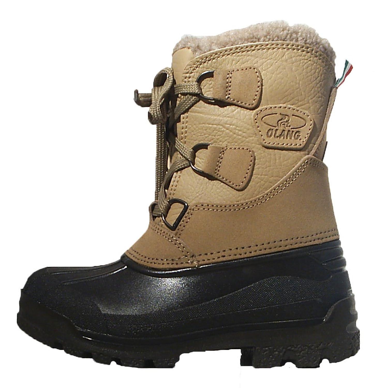 Olang Stiefel beige schwarz Leder Schneestiefel Innenschuh günstig online kaufen