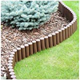 Brown 2.7 m long lawn border IPAL5 for, 3 colours avaialble