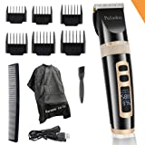 Professional Hair Trimmer For Men, Best Quiet Cordless Hair Clippers Set For Kids & Boy, Electric Beard Trimmers Haircut Machine, LED Display USB Rechargeable Hair cutting Gift kit