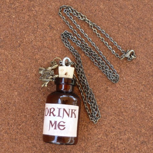 Alice in Wonderland Tea Party necklace-Drink me bottle