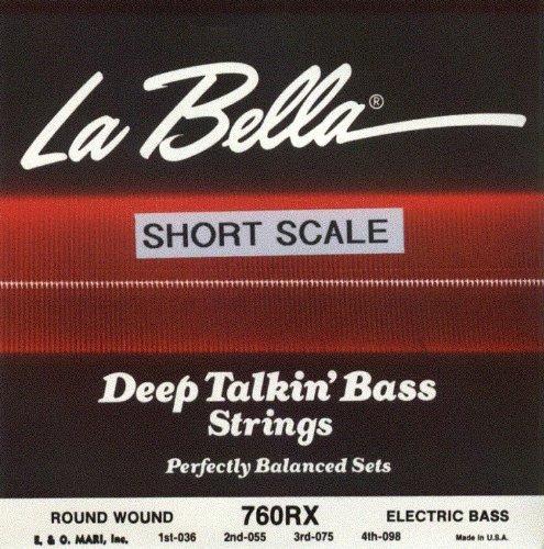 La Bella Electric Bass Guitar Deep Talkin' Bass Extra Light Short Scale, .036 - .098, Stainless Ste