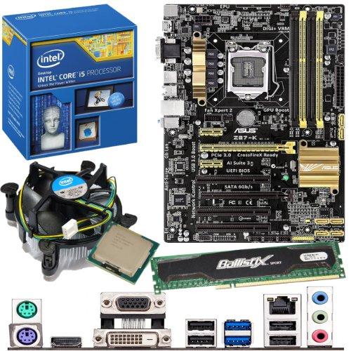 INTEL Core i5 4430 3.0Ghz, ASUS Z87-K Motherboard & 4GB 1600Mhz DDR3 Crucial Ballistix Sport RAM Bundle