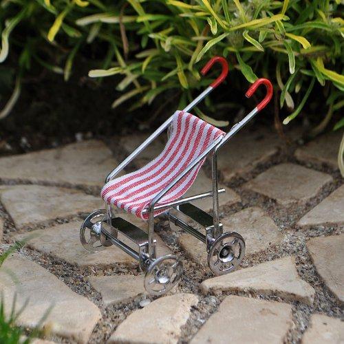 Miniature Fairy Garden Tiny Baby Stroller