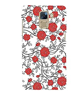 PRINTSWAG FLOWERS Designer Back Cover Case for HUAWEI HONOR 7