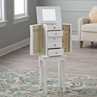 Finley Home Mallory Jewelry Armoire (White)