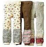 [backbuy] 3pantalones 0-3Años Niños Niñas Leggings pantalones punto pantalones PJ13 Talla:18-24 meses