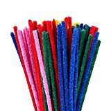 eBoot 150 x 4 mm Scovolini Decorativi Pipe Cleaners Pulitori di tubo Ciniglia Stem per arte e commercio, Colori assortiti,100 pezzi